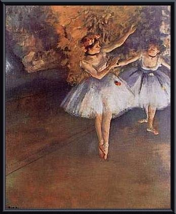 Two Dancers on Stage, Framed 