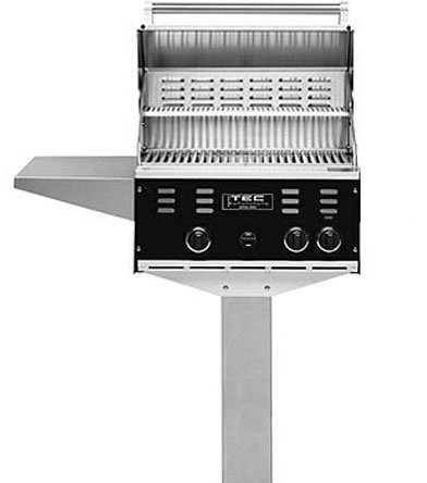 TEC Patio II Gas Grill On In Ground Post NG (Black Finish)