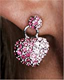 Sterling Silver and Crystal Heart Earrings by Paris Hilton