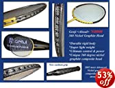 Genji 360 Nickel Graphite Ni8000 Badminton Racket by Genji