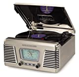 Crosley CR711-BC Autorama Turntable with AM/FM - Brushed Chrome