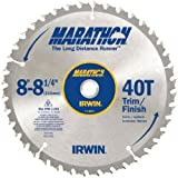 IRWIN 14053 Marathon 8-1/4, 40-Tooth Trim and Finish Circular Saw Blade