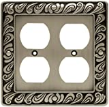 Paisley Double Duplex Wall Plate