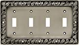 Paisley Quad Switch Wall Plate