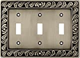 Paisley Triple Switch Wall Plate