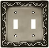 Leaf and Vine Double Switch Wall Plate