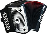 Hohner 3100 Panther GCF Diatonic Accordion, Matte Black