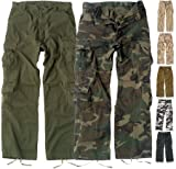 Prewashed RETRO Paratrooper Fatigues. A Cool Vintage Looking Military BDU style with 8 Pockets.