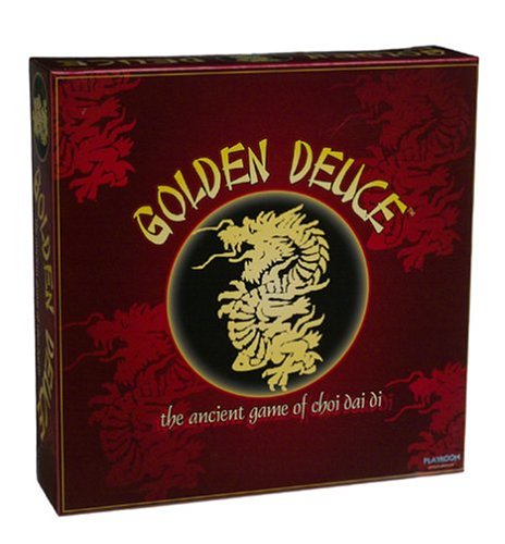 Cover Art shows a golden dragon. Text says: Golden deuce. The ancient game of choi dai di
