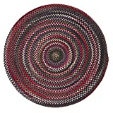 Chestnut Knoll Amber Red Round Rug - 10'