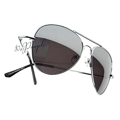 Elite Metal Aviator Sunglasses with Mirror Lens