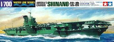 The  Shinano a  Japanese World War 2 Aircraft Carrier weighte 68059 tons.