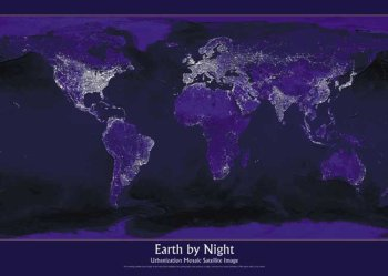 Earth By Night, Art Poster