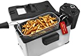 Elite Gourmet 3.5 Quart Brushed Stainless Steel Immersion Deep Fryer – EDF3500