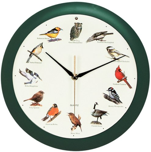 Animal Bird Chirp Singing Song/ Sound Wall Clock NEW