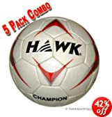 Hawk Soccer Balls Champion Size 3 - 5 Pack by Hawk