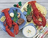 Live 1-1/2 Pound Lobster, Steak & Chowder Dinner for Two Gift Certificate Lobster Gram