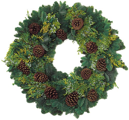 26-Inch Deluxe Multi-Cone Wreath