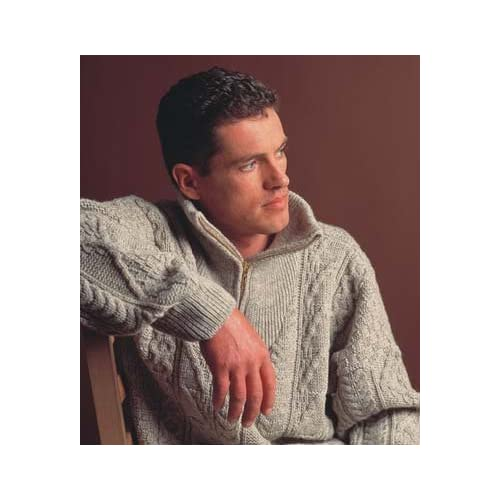 Organic Aran Zip Sweater