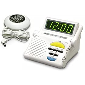 sonic boom alarm clock with bed shaking vibrating alarm