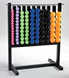 Locking Dumbbell Rack and 43 Pairs of Vinyl or Neoprene Dumbbells -... by Troy Barbell