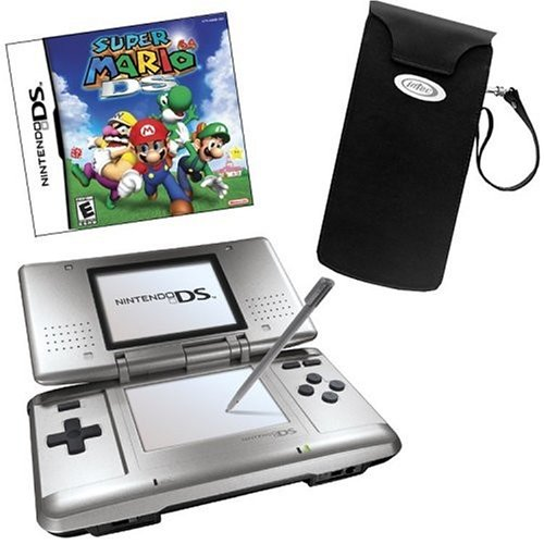Nintendo DS Bundle with Super Mario 64 and Leather Case