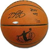 LeBron James Autographed Basketball with Laser Engraved Rookie of the... by Upper Deck