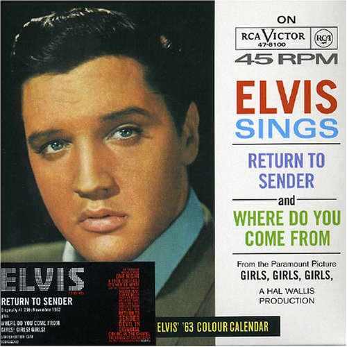Original album cover of Return to Sender by Elvis Presley
