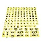 Braille/Large Print Letters Combo (Black on Yellow)