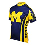 University of Michigan Wolverines Cycling Jersey by Adrenaline