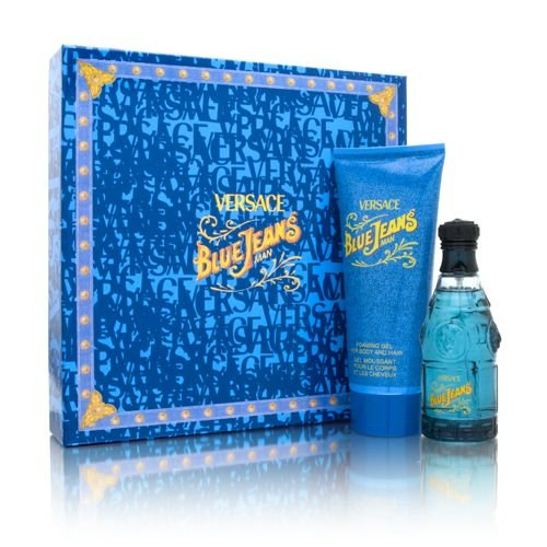 Blue Jeans by Versace for Men Gift Set