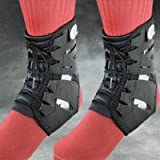 PAIR of Swede-O Tarsal Lok Ankle Braces with built-in stabilizer, Black by Swede-O