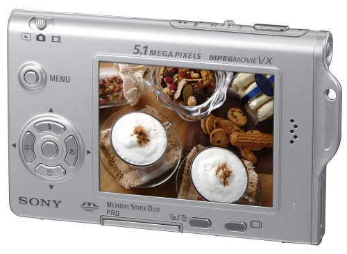 Sony Cybershot DSCT7 5.1MP Digital Camera with 3x Optical Zoom (Includes Docking Station)