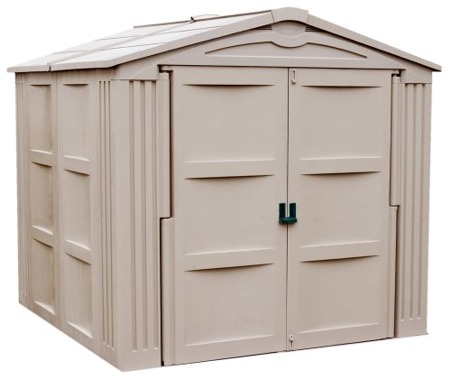 Suncast vertical tool shed 60 cubic feet box for Versatile sheds prices