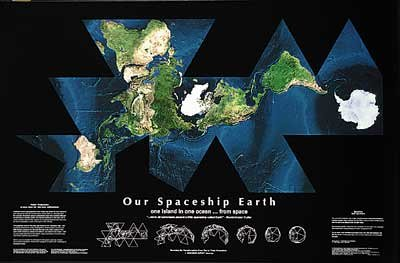 Earth - Fuller Projection From Space by Spaceshots