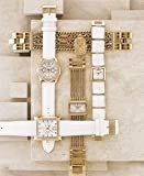 Guess Croco-embossed White Leather Strap Watch