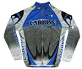 Carbon Veloz Bicycle Long Sleeve Jersey Grey by Veloz