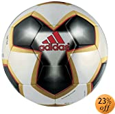 Adidas Pelias 2 FIFA Approved Soccer Ball (Light Grey Red Gold) by adidas