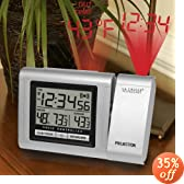 La Crosse WT-5120U Atomic Projection Alarm Clock w/ Outdoor Temp