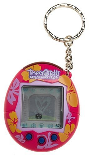 Toys: Tamagotchi Connection. Version 2 Tropical Fun Hot Pink with Flowers