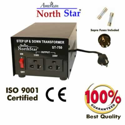 750 Watt heavy duty step up step down voltage converter for continuous use ST750.