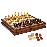 Staunton Chess/Checkers Set with 15 Board