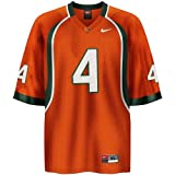 Click here to buy Nike Miami Hurricanes #4 Orange Replica Jersey by NIKE INC.