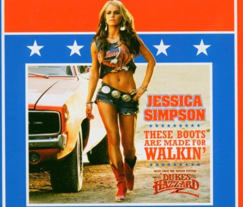 CD-Cover: Jessica Simpson - These Boots Are Made for Walkin [MAXI-CD]