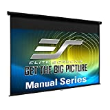 Elite Screens Black 84 Diag. Manual Pull Down Screen - M84UWH