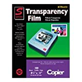 Simon Labels XTR650 Transparency Film, Paper Copier, 8-1/2x11, 100 Per Box