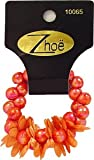Zhoe Floral Bead Hair Scrunchie