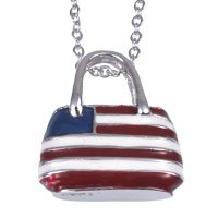 Enamel US Flag Purse Pendant: Jewelry & Watches from amazon.com