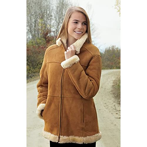 Ladies' Guide Gear® Lamb Shearling Jacket Tan