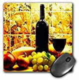 Fruit Food - Wine Bread Cheese Grapes - Mouse Pads